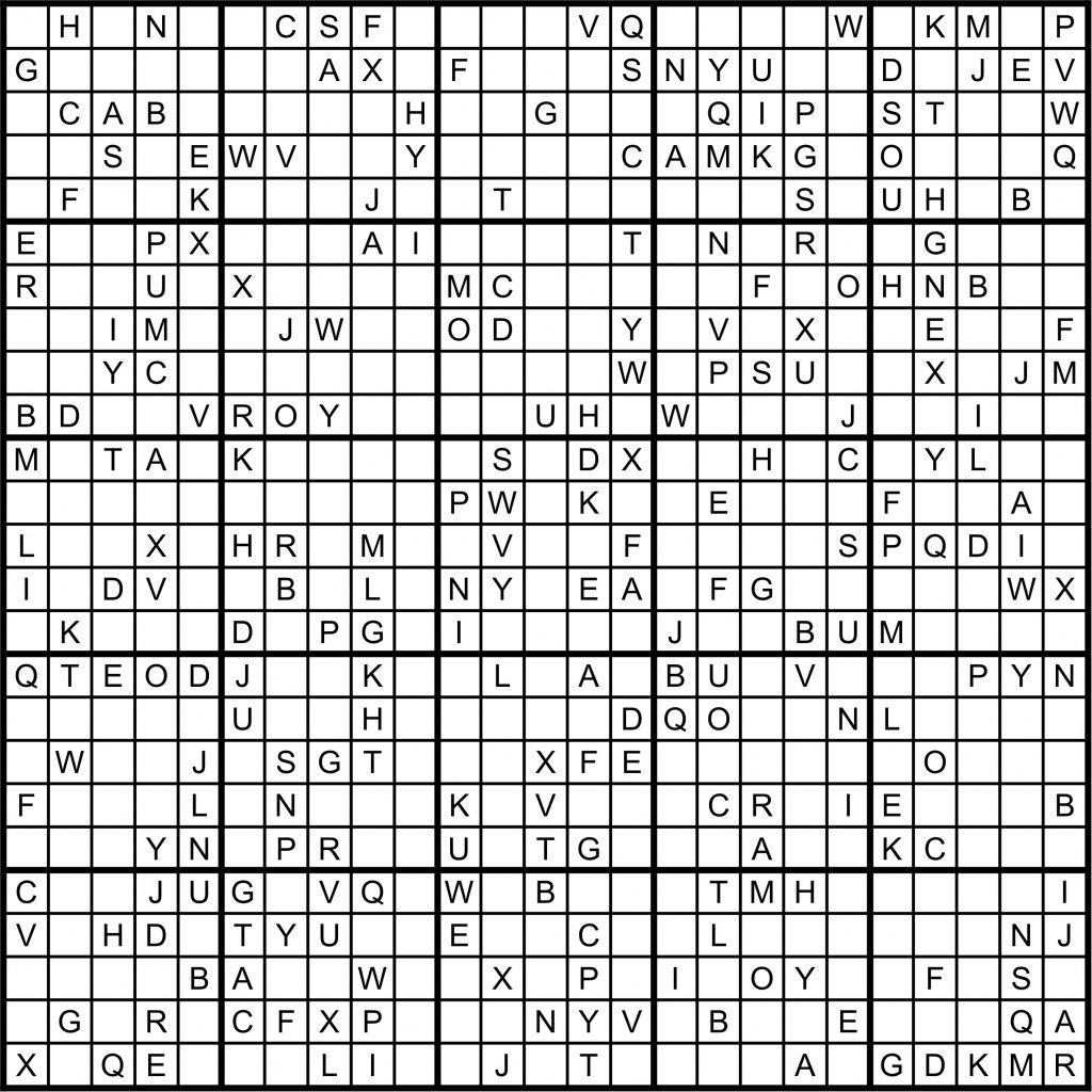 Sudoku Puzzles Printable 25X25 Printable Sudoku 25X25