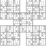 Sudoku Samurai Printable Free Sudoku Printable