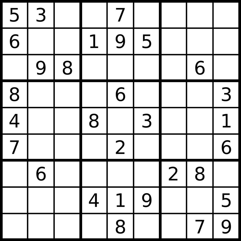 Sudoku Wikip Dia A Enciclop Dia Livre