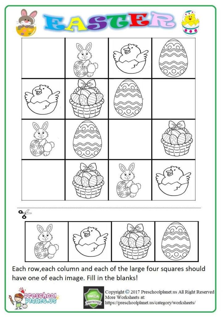 Sudoku Worksheets PDF Easter Worksheets Worksheets For