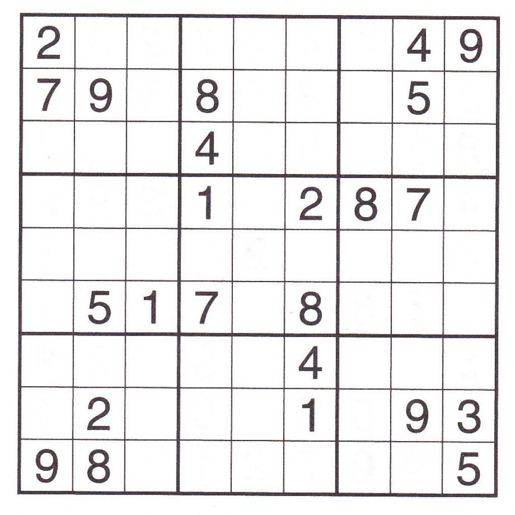 Super Challenger Sudoku Printable Puzzles Printable
