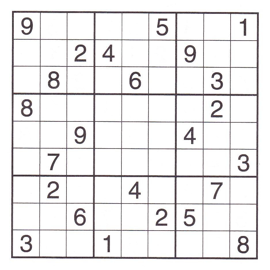 Super Hard Sudoku Printable