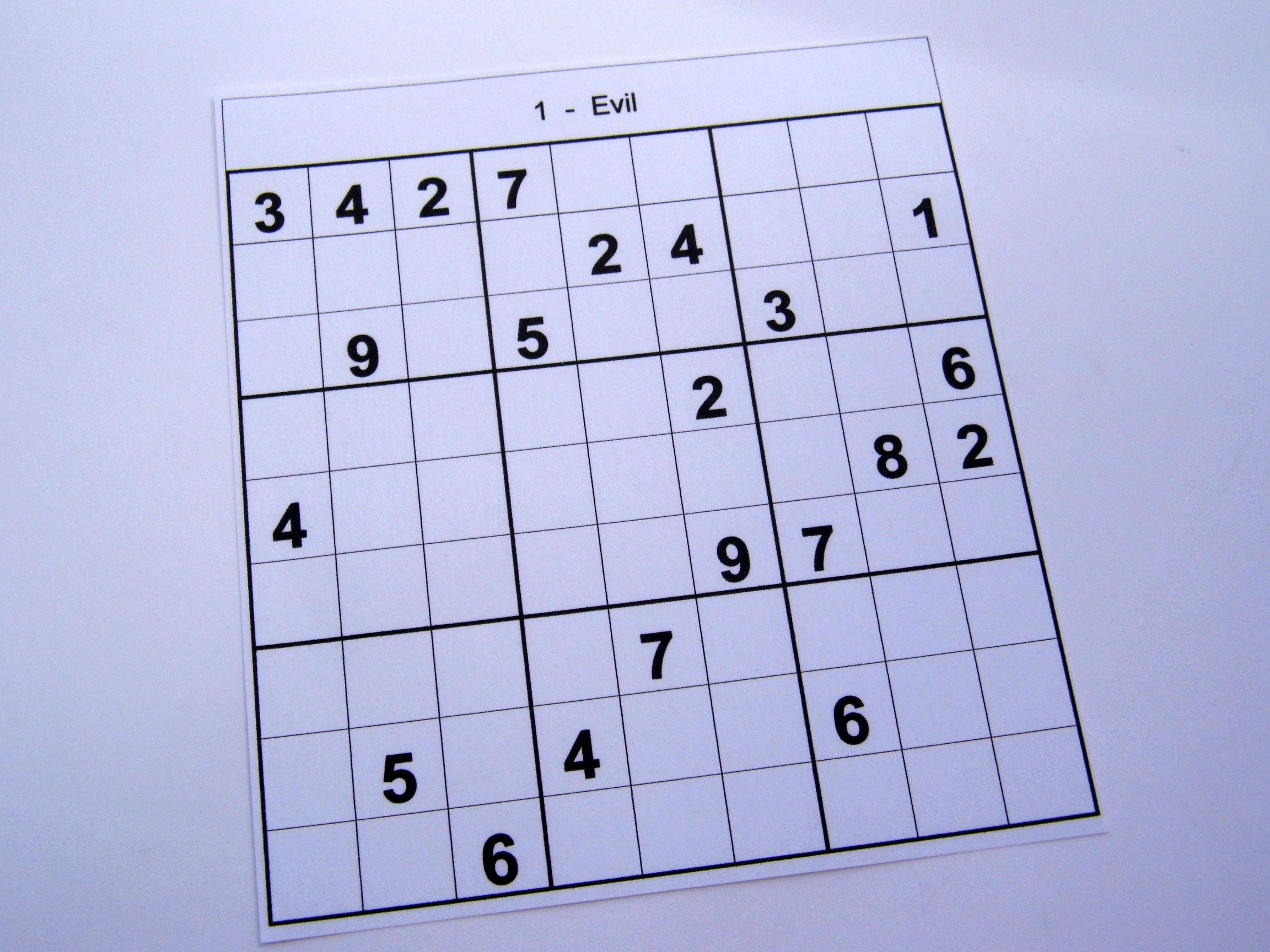 Super Hard Sudoku Puzzles Printable