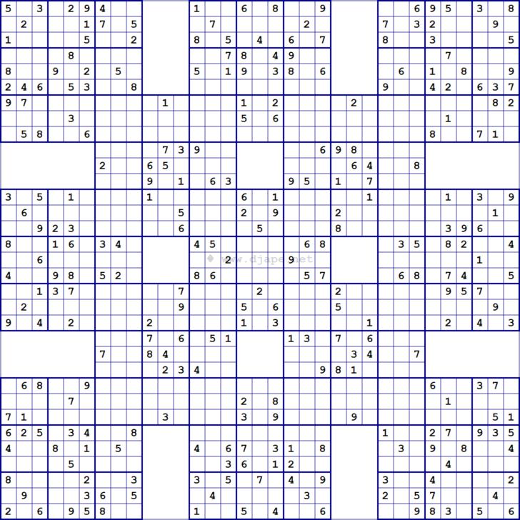 Super Samurai Sudoku Printable