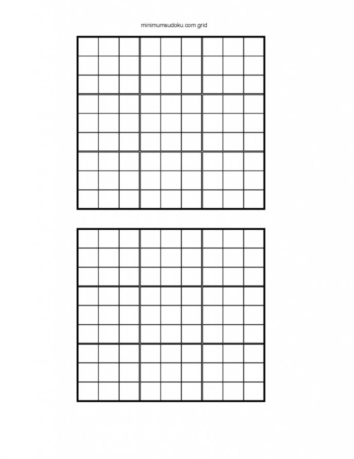 Printable Sudoku 2 Per Page