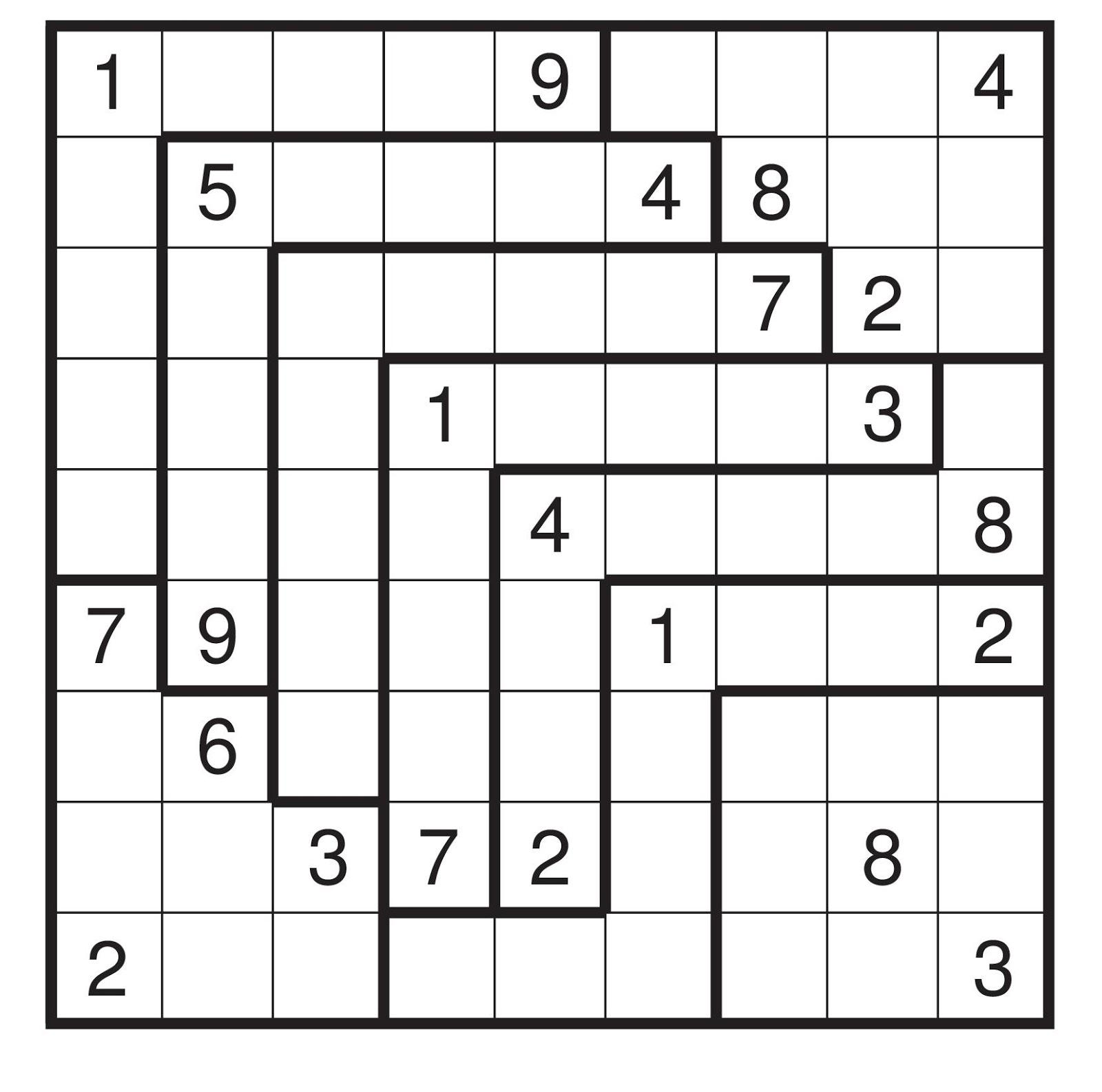 Free Printable Irregular Sudoku