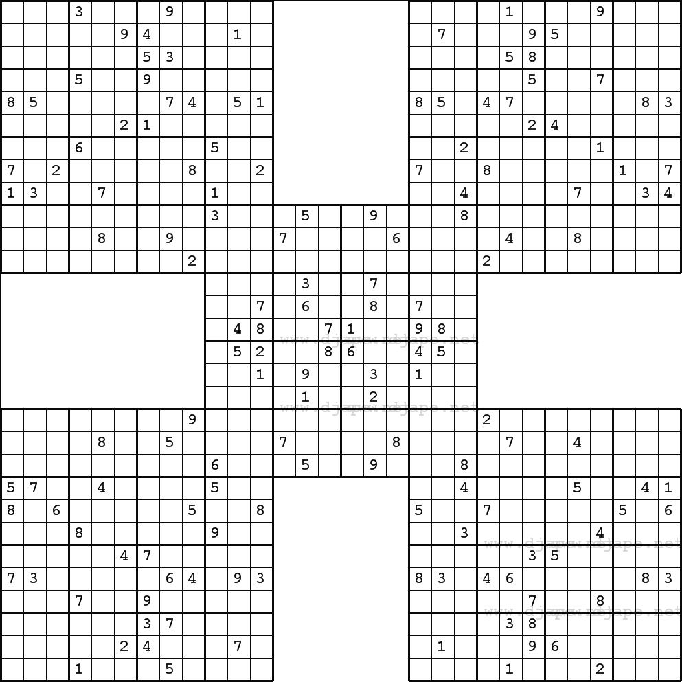 Free Printable Giant Sudoku Puzzles
