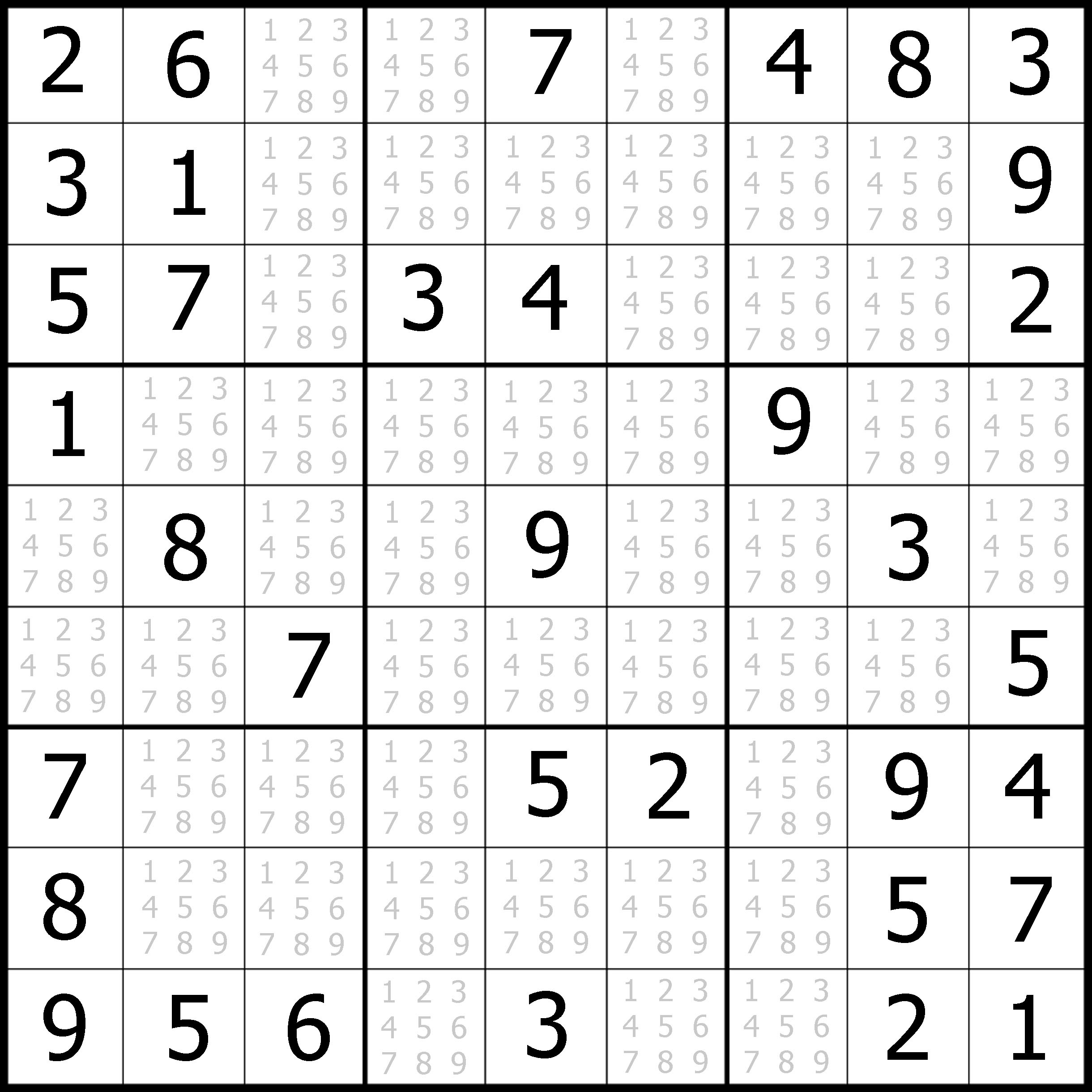 Simple Sudoku Puzzles Printable