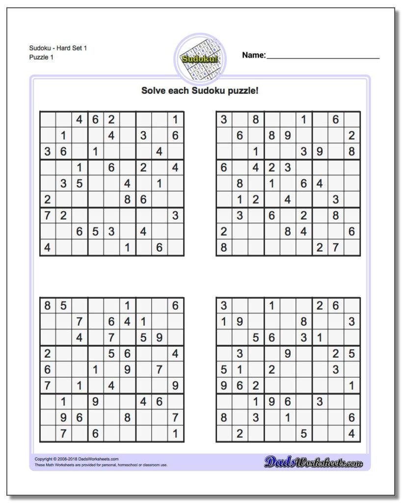 Using A Sudoku Printable To Teach The Basics Of Math