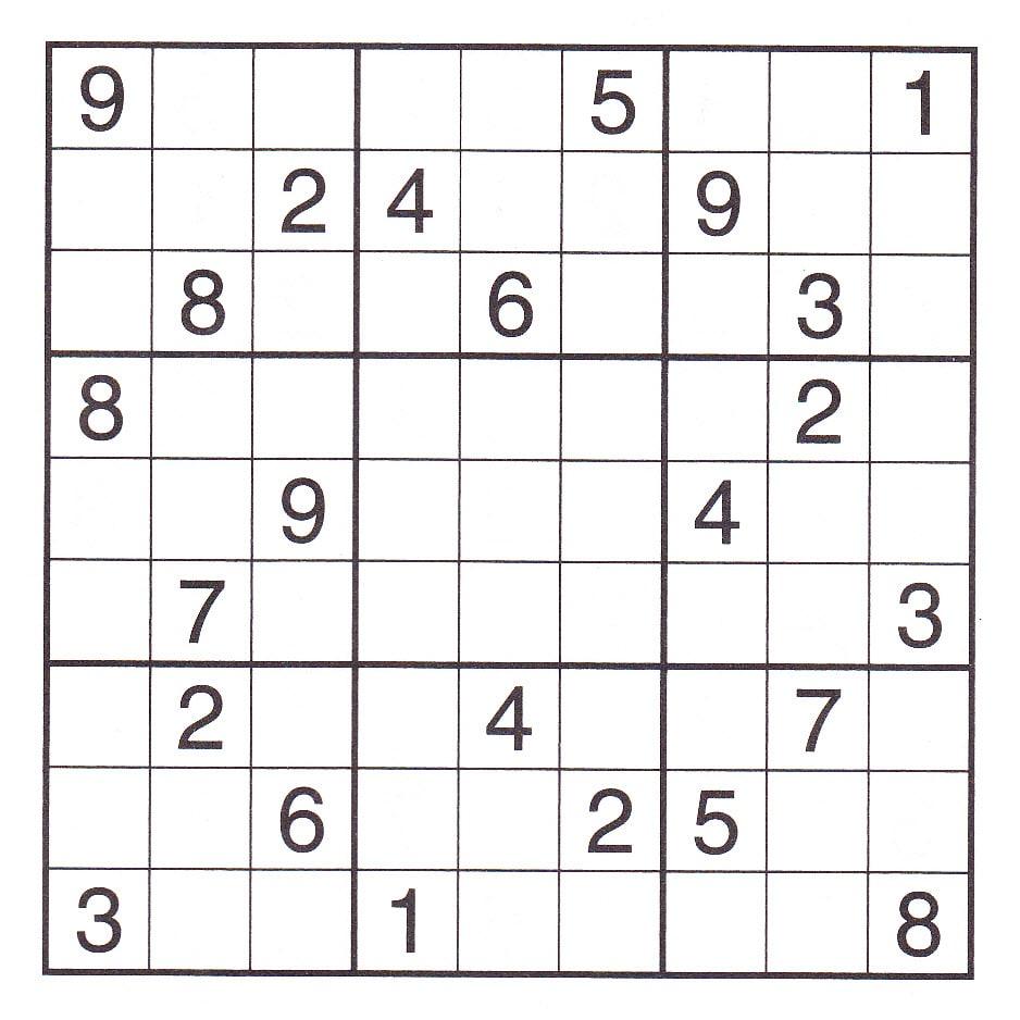 Very Hard Sudoku Printable