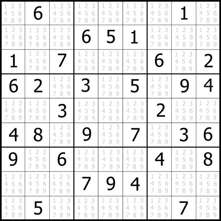 Free Web Sudoku Printable