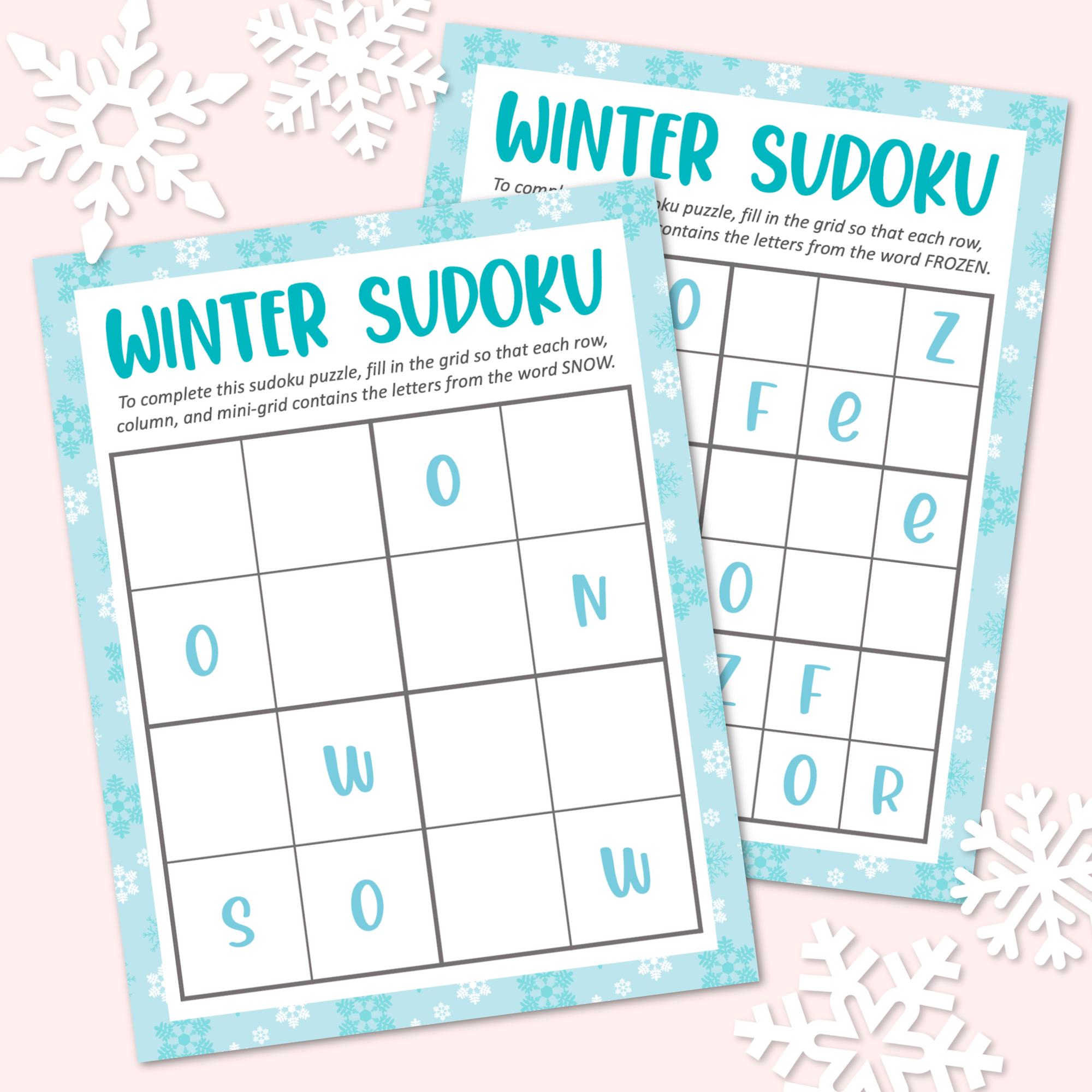 Winter Sudoku Printables
